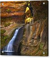 Upper Falls Of Hocking River Acrylic Print