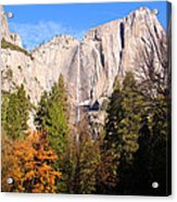 Upper Yosemite Falls In Autumn Acrylic Print