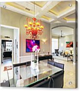 Upscale Dining Room Interior Acrylic Print