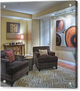 Upscale Living Room Interior Acrylic Print