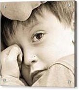 Upset Child Acrylic Print