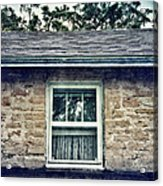 Upstairs Window In Stone House Acrylic Print