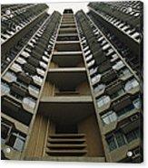Upward View Of A Public Housing Acrylic Print by Justin Guariglia