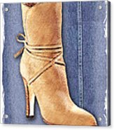 Urban Cowgirl Suede Boots Acrylic Print