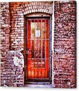 Urban Door In Old Brick Building Acrylic Print