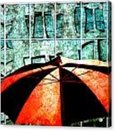 Urban Umbrella Acrylic Print