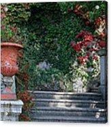 Urn And Steps At A Villa On Lake Como Acrylic Print