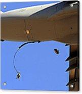 U.s Air Force Airmen Parachute Acrylic Print