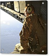 U.s. Air Force Commander Sits Harnessed Acrylic Print