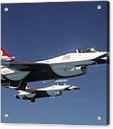 U.s. Air Force F-16 Thunderbirds Acrylic Print