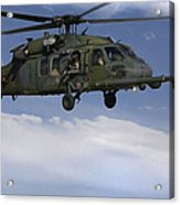 U.s. Air Force Hh-60 Pave Hawks Conduct Acrylic Print