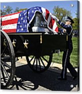 U.s. Air Force Honor Guard Straightens Acrylic Print