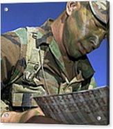 U.s. Air Force Lieutenant Reviews Acrylic Print