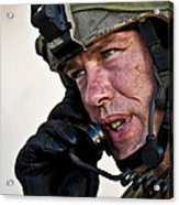 U.s. Air Force Sergeant Calls Acrylic Print