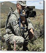 U.s. Air Force Sergeant Shoots Video Acrylic Print