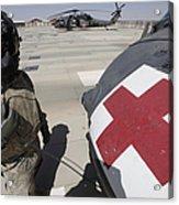 U.s. Army Crew Chief Inspects Acrylic Print