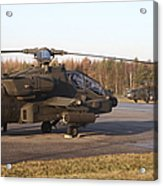 U.s. Army Helicopters At The Letzlingen Acrylic Print