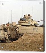 U.s. Army M2 Bradley Infantry Fighting Acrylic Print