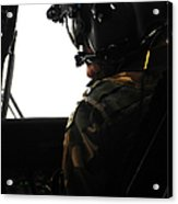 U.s. Army Officer Speaks To A Pilot Acrylic Print