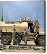 U.s. Army Sergeant Refuels A Caiman Acrylic Print