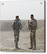 U.s. Army Soldier And German Soldier Acrylic Print