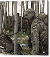 U.s. Army Soldier Communicates Possible Acrylic Print