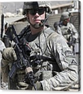 U.s. Army Soldier Conducts A Combat Acrylic Print