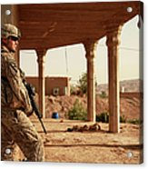 U.s. Army Soldier Pulls Security Acrylic Print