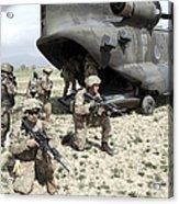 U.s. Army Soldiers Board A Ch-47 Acrylic Print