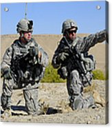 U.s. Army Soldiers Familiarize Acrylic Print by Stocktrek Images