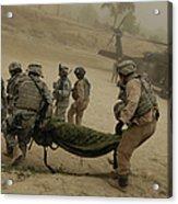 U.s. Army Soldiers Medically Evacuate Acrylic Print