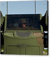 U.s. Army Specialist Operates An Acrylic Print