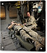 U.s. Army Specialist Practices Giving Acrylic Print