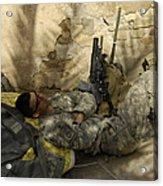 U.s. Army Specialist Takes A Nap Acrylic Print