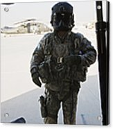 U.s. Army Uh-60l Loadmaster Confirms Acrylic Print