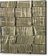 Us Cash Bundles Acrylic Print