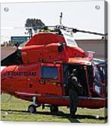Us Coast Guard Helicopter Acrylic Print