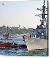 Us Cruiser Docking In Istanbul Acrylic Print