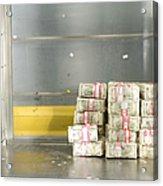 Us Dollar Bills In A Bank Cart Acrylic Print
