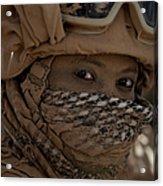 U.s. Marine Covered In Dirt Acrylic Print