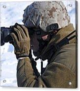 U.s. Marine Looks Acrylic Print