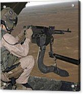 U.s. Marine Test Firing An M240 Heavy Acrylic Print