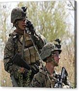 U.s. Marines Communicate Acrylic Print