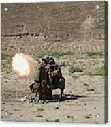 U.s. Marines Fire A Rocket-propelled Acrylic Print