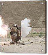 U.s. Marines Fire A Rpg-7 Grenade Acrylic Print