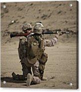 U.s. Marines Load A Fragmentation Round Acrylic Print
