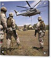 U.s. Marines Observe Ch-53e Super Acrylic Print