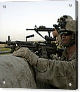 U.s. Marines Observe The Movement Acrylic Print by Stocktrek Images