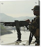 U.s. Navy Petty Officer Stands Watch Acrylic Print