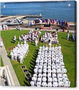 U.s. Navy Sailors Attend An Acrylic Print
